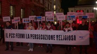 """En Milán, exiliados de la IDT salen a las calles para decir """"Basta"""""""