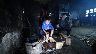 Familia pobre en China