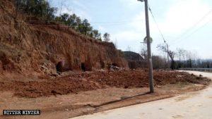 La iglesia emplazada en el poblado de Xianglushan fue arrasada