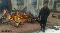 Iglesias de las Tres Autonomías destrozadas en la provincia de Henán (Vídeo)