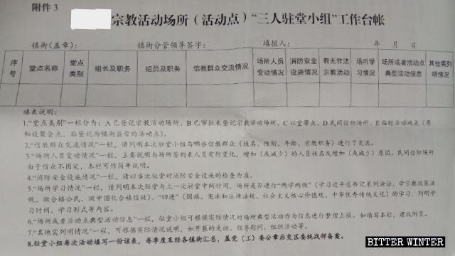 """El formulario deberá ser completado por """"equipos compuestos por tres personas"""" luego de visitar los lugares religiosos."""