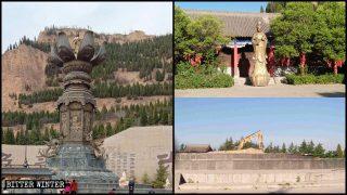 China destruye estatuas budistas grandes situadas en áreas turísticas
