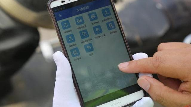 Un smartphone de Huawei para la aplicación de la ley