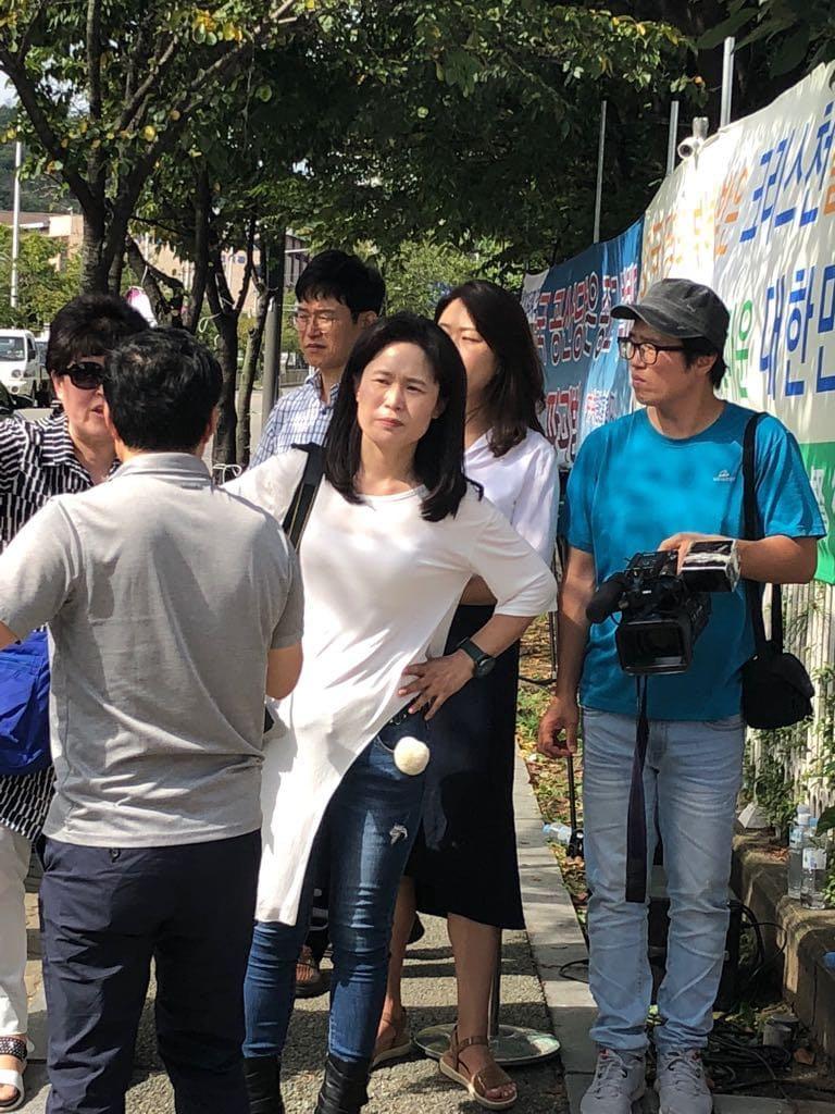 La señorita O durante las falsas manifestaciones de septiembre de 2018.