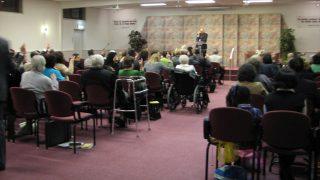 Una reunión de los testigos de Jehová