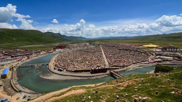 Centro Budista Yachen Gar. Cortesía de Phuong Nguyen.