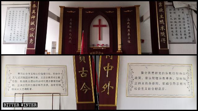 En iglesias emplazadas a lo largo de toda China se han eliminado los Diez Mandamientos y se han publicado citas del presidente Xi Jinping.