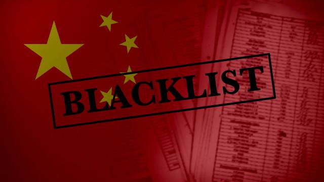 La lista negra del PCCh