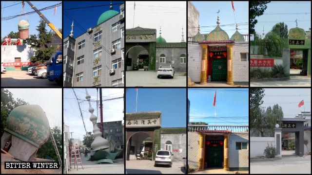 Las cúpulas y los símbolos de luna creciente han sido desmantelados por la fuerza de numerosas mezquitas emplazadas en la ciudad de Zhengzhou.