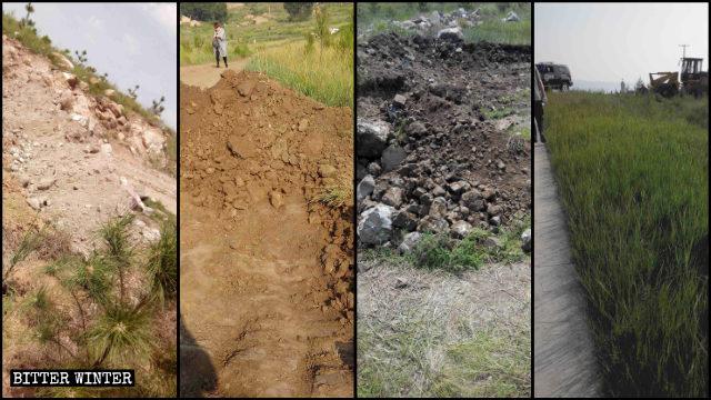 Los atajos que conducían al sitio de peregrinación fueron excavados y obstruidos.