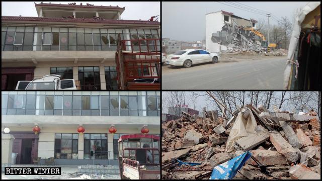 Una vivienda privada cuya construcción costó casi un millón de yuanes fue demolida.