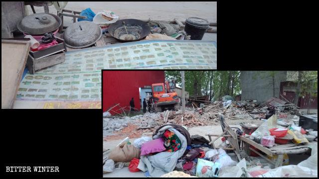 """En la ciudad de Zhumadian de la provincia de Henán, muchas otras viviendas también fueron demolidas durante la implementación del proyecto """"Hermosa campiña""""."""