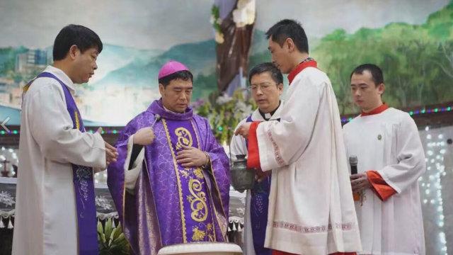 Mons. Guo Xijin, obispo auxiliar de la diócesis de Mindong.