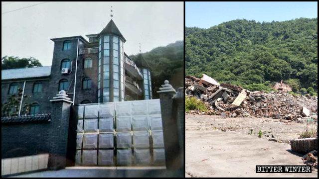 El 12 de mayo se demolió una iglesia de las Tres Autonomías que se hallaba emplazada en Hangzhou.