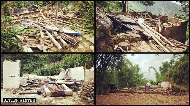 Cuatro lugares de reunión pertenecientes a iglesias domésticas fueron convertidos en ruinas.