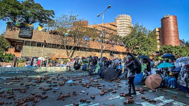 Estudiantes protestan en Hong Kong