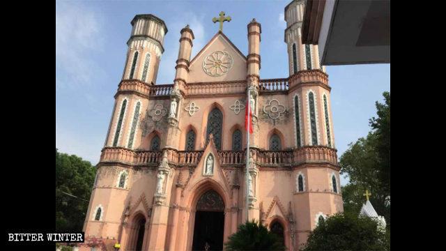 Exterior de la Catedral de San José emplazada en Fuzhou.