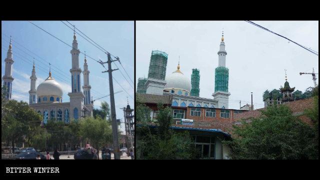 """La Gran Mezquita de Mochuan emplazada en el poblado de Hanji del condado de Linxia ha sido """"sinizada""""."""