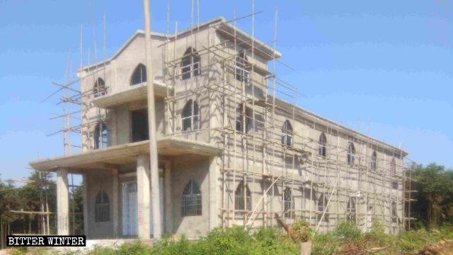La nueva Iglesia de Liandong estaba casi terminada cuando se ordenó su demolición.