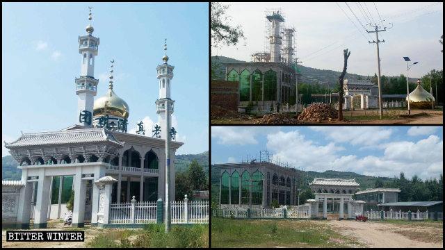 Los elementos arquitectónicos islámicos que se hallaban situados en la parte superior de una mezquita emplazada en la aldea de Tuanju fueron demolidos.