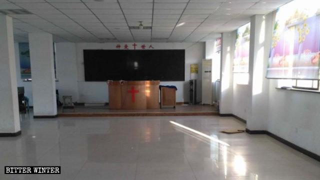 Un lugar de reunión perteneciente a una iglesia doméstica, situado en el Parque Industrial del condado de Wuyuan, fue vaciado.