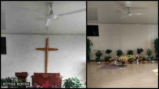 Un lugar de reunión perteneciente a una iglesia doméstica emplazado en el condado de Huinan se vio obligado a derribar su cruz.