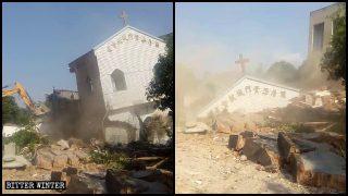 Dos iglesias de las Tres Autonomías fueron demolidas en una aldea de Fuzhou (Video)