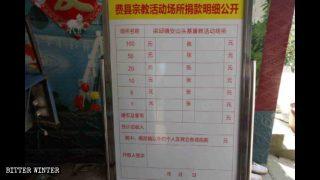 El PCCh utiliza las donaciones de los creyentes para adoctrinarlos
