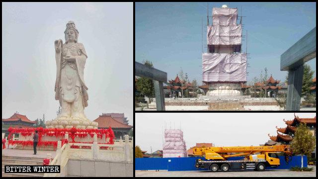 En el mes de octubre, el Gobierno local ordenó demoler la estatua de Kwan Yin.
