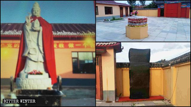 La estatua de Kwan Yin que se hallaba situada en la ciudad de Jiaohe fue eliminada en el mes de mayo.