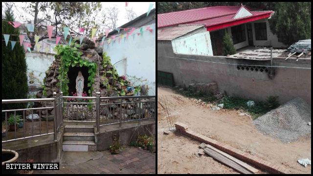La estatua de la Virgen María que se hallaba situada en el patio de una iglesia católica emplazada en el condado de Linzhang fue destruida por orden de los funcionarios locales.