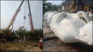 Más estatuas budistas sucumben a la campaña nacional de demolición (Video)