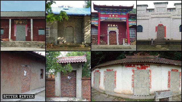 Numerosos templos emplazados en la provincia de Hubei han sido completamente sellados.
