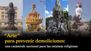 """""""Arte"""" para prevenir demoliciones: una catástrofe nacional para las estatuas religiosas"""