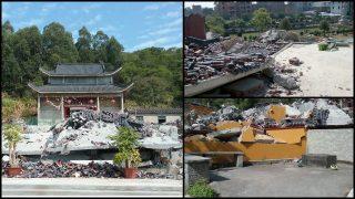 Amenazados con ser despedidos, funcionarios prometen demoler templos (Video)