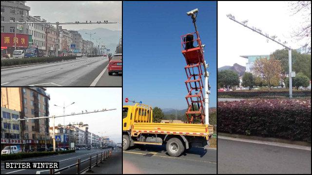 En el año 2019 se instalaron numerosas cámaras de vigilancia a lo largo de toda la provincia de Zhejiang.