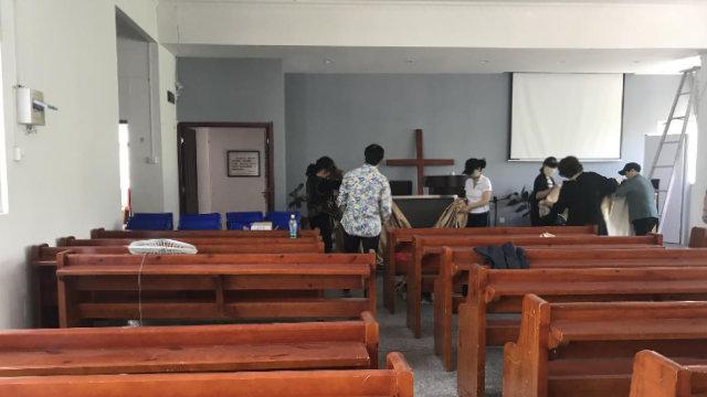 La Iglesia del Oeste perteneciente a la Iglesia presbiteriana de Dao'en se vio obligada a cerrar sus puertas.
