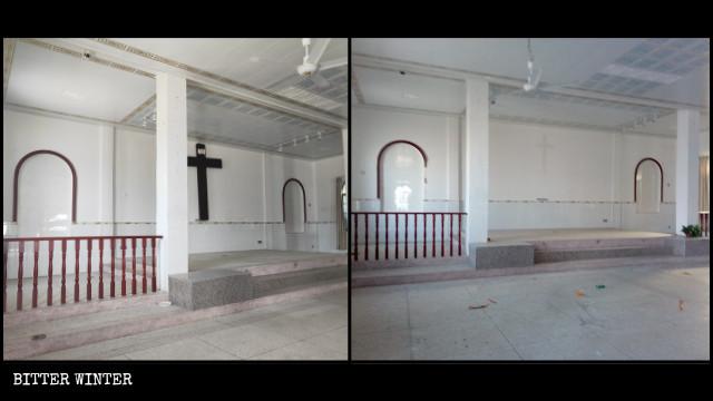 Una iglesia católica emplazada en el poblado de Wenquan fue vaciada en el mes de noviembre.
