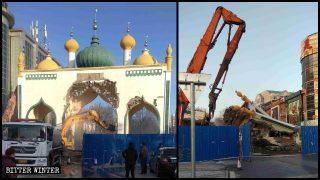 Estructuras islámicas demolidas y símbolos religiosos retirados de tiendas (Video)