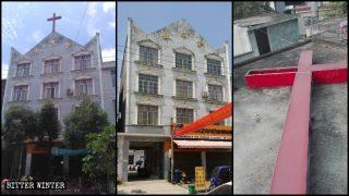 Numerosas iglesias protestantes fueron reprimidas en la provincia de Hubei