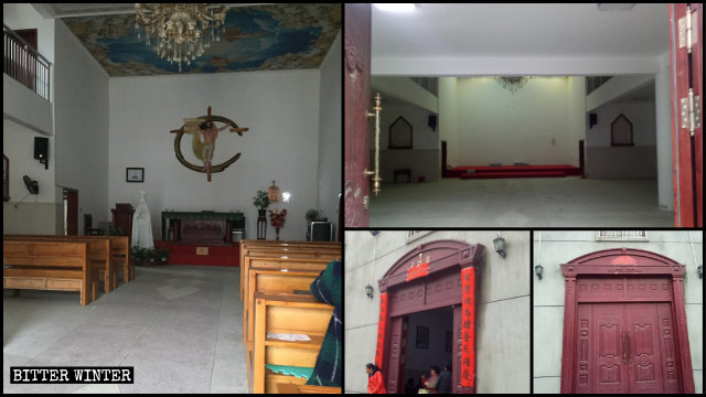 La iglesia emplazada en la aldea de Xiahuang fue vaciada.
