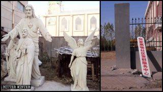 Todas las estatuas han sido quitadas de la iglesia católica.