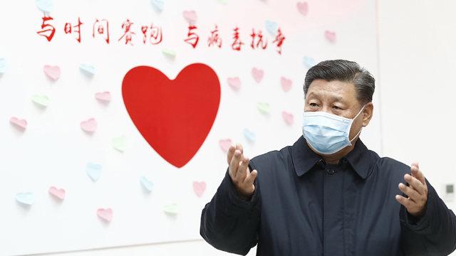 El presidente Xi Jinping en Pekín en el mes de febrero.