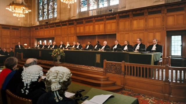 Una audiencia en la Corte Internacional de Justicia