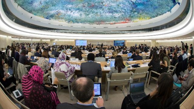 Reunión celebrada en el Consejo de Derechos Humanos de las Naciones Unidas emplazado en Ginebra.