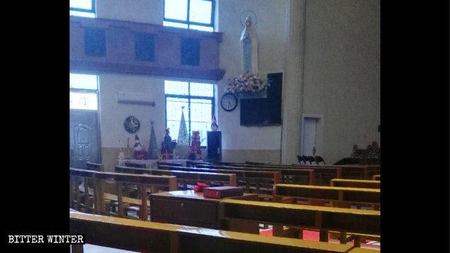 La iglesia católica de Saiqi antes de ser clausurada