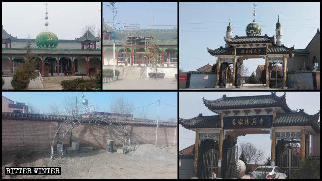 Numerosas mezquitas emplazadas en el distrito de Kongdong de Pingliang han sido despojadas de sus símbolos islámicos.