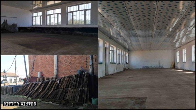 Se demolió un gran kang que se encontraba situado en un lugar perteneciente a una iglesia doméstica.