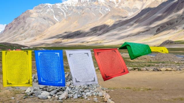 Banderas de oración tibetanas