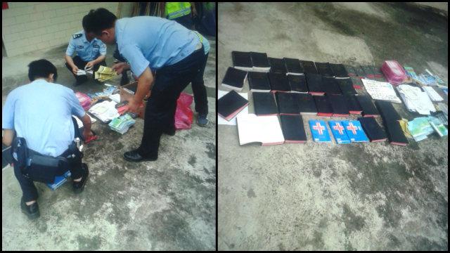"""La policía está confiscando Biblias y otros libros religiosos del """"Hogar de Cristo""""."""
